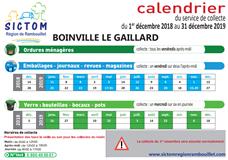 Calendrier Sictom.Sictom Calendrier Des Collectes 2019 Boinville Le Gaillard